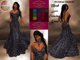 [RPC] MESH ~ Lace Mermaid Dress with HUD