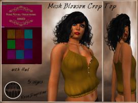 [RPC] MESH ~ Blouson Crop Top with HUD