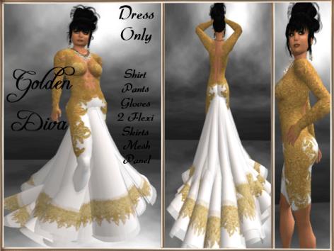 RPC Golden Diva ~ White