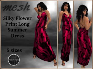[RPC] Mesh ~ Flower Print Dress ~ Rose