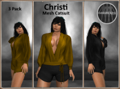 [RPC] MESH ~ Christi Catsuit ~ Gold&Black Pack