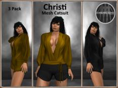 [RPC] MESH ~ Christi Catsuit ~ Gold&Black Pack
