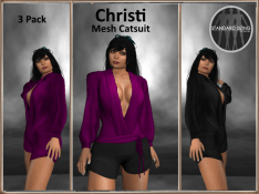 [RPC] MESH ~ Christi Catsuit ~ Purple&Black Pack