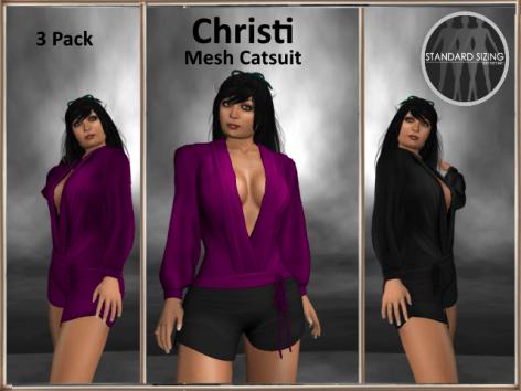 [RPC] MESH ~ Christi Catsuit ~ Purple&Black Pack