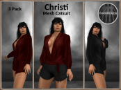 [RPC] MESH ~ Christi Catsuit ~ Red&Black Pack