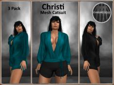 [RPC] MESH ~ Christi Catsuit ~ Teal&Black Pack