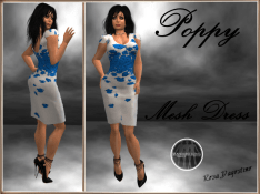 [RPC] MESH ~ Poppy Dress ~ Blue