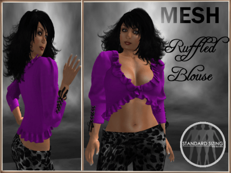 [RPC] MESH ~ Ruffled Blouse ~ Purple