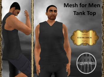 [RPC] Mesh for Men ~ Tank Top ~ Black