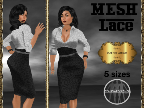 [RPC] MESH ~ Lace in Black