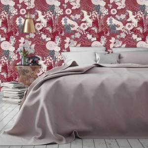 Image of Japanese oriental home décor wallpaper designs