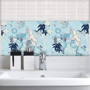 Image of Blue Japonisme Feature wall tiles from forthefloorandmore.com
