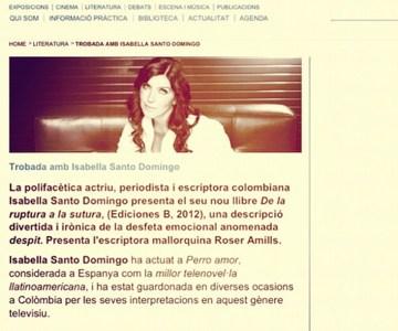 Presentación de Isabella Santo Domingo en Barcelona, por Roser Amills