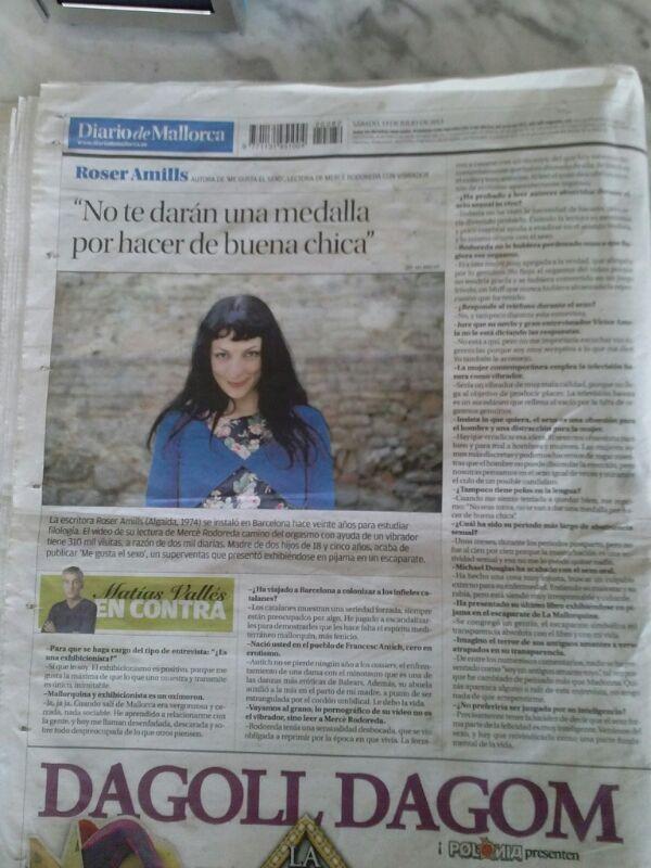 roser amills entrevista diario de mallorca buena chica