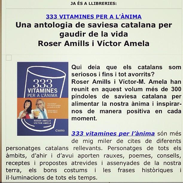333 vitamines roser amills victor amela cartell