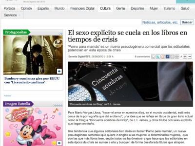 Estrella Digital | El sexo explícito se cuela en los libros en tiempos de crisis