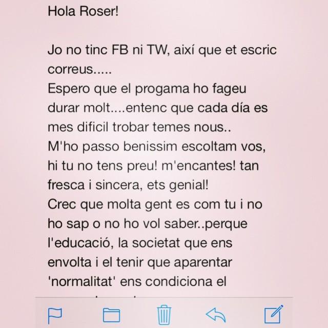 comentario oyente de roser amills catalunya radio