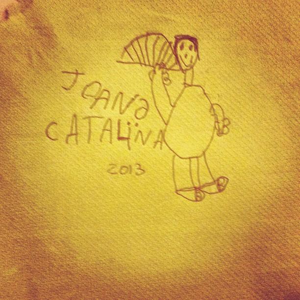 dibujo de mi hijo juan para la abuela catalina