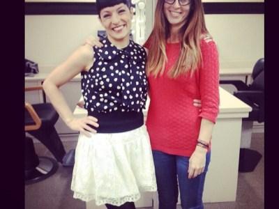 Ja estem amb l'energia en marxa total per a @vespreala2 amb la Mabel Martí @senolaph ;))