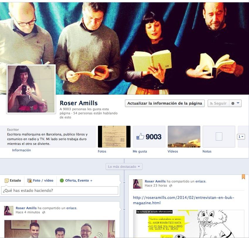 pagina de fans de roser amills en facebook foto pickwick films