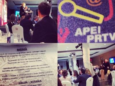 Ya tenemos en marcha los #premiosapei2014 con Constantino Mediavilla y Silvia Tarragona en el estrado