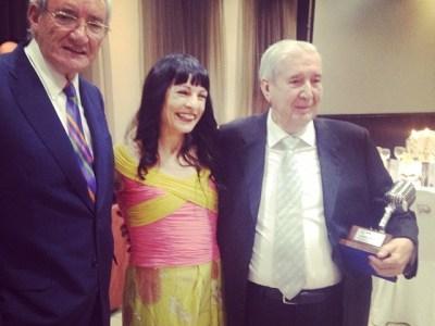 Con dos grandes de la radio, Gabriel Sampol, mallorquín, y Luis del Olmo