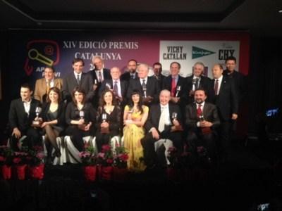 Sonoros y destacados nombres del periodismo se llevan los Premios Cataluña APEI 2013/2014