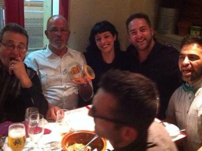Una cena de magia y alegría con Gabriel J Martín #sebuena y los pingüinos en @pepatomate !!!