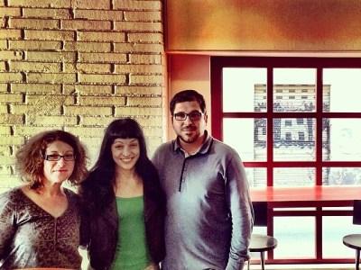 Maca trobada al #pepatomate amb dos grans lectors: la Cristina i l'Oriol