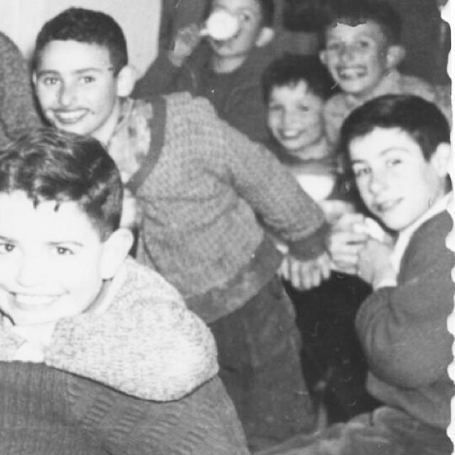 Mi padre y sus amigos en una chocolatada de infancia en Bagà
