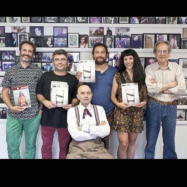 roser amills con el equipo de la revista canibaal en el ateneu barcelones presentacion
