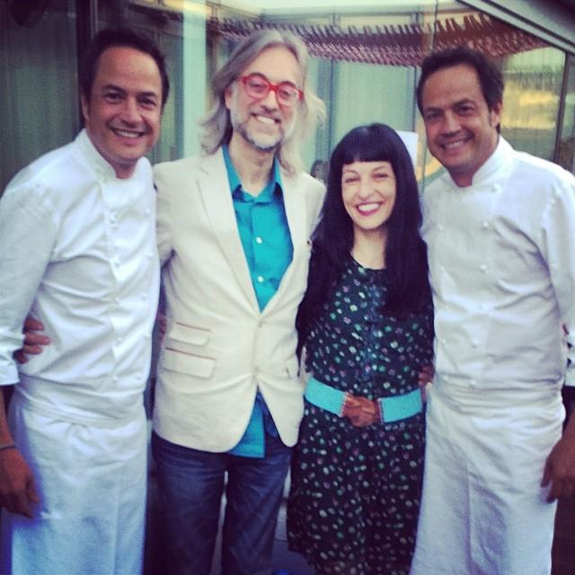 roser amills y victor amela con los hermanos chefs mediaticos