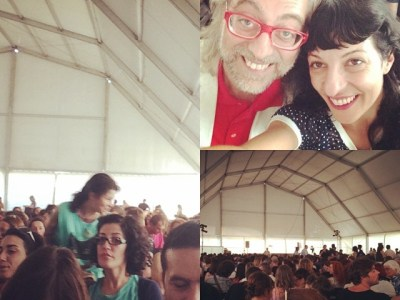 A punto para la charla de Alejandro Jodorowsky en #jiwapop festival