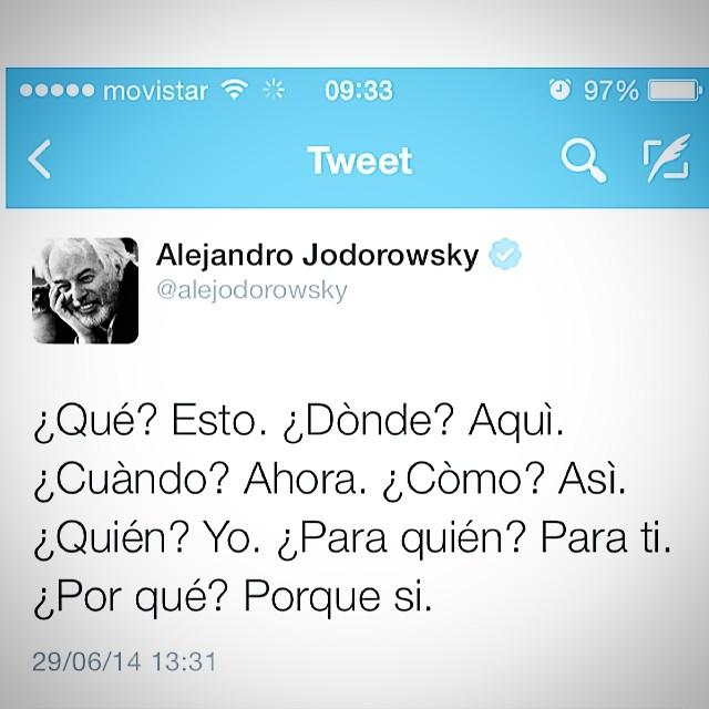 alejandro jodorowsky twitter