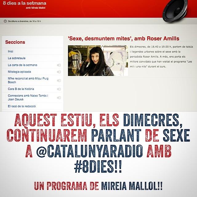 estiu de roser amills al programa de catalunya radio de mireia mallol