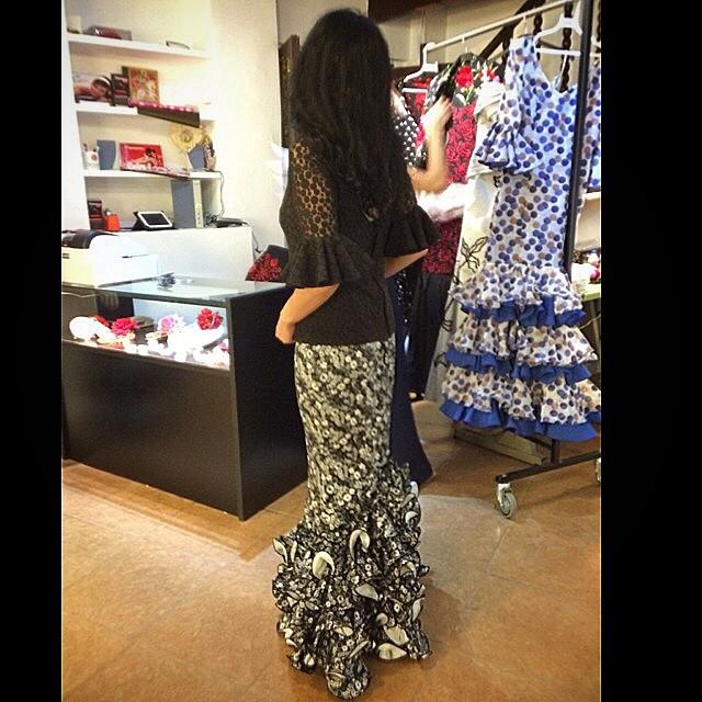 roser amills vestida de flamenca barcelona