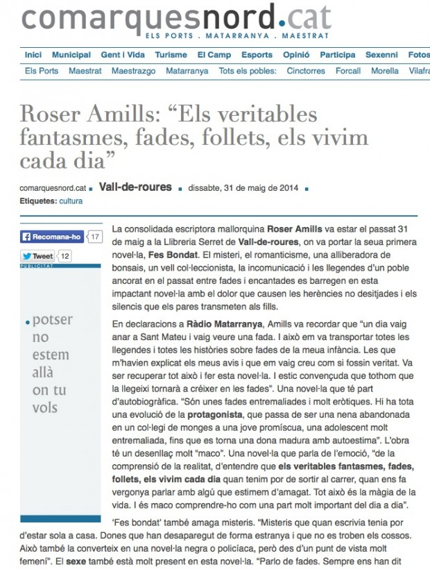 roser amills a comarques nord