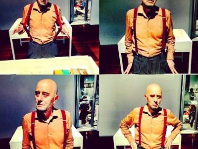 La expo que inauguró ayer mi amigo @antoniobeneytosenabre está en el #santamonica ;))