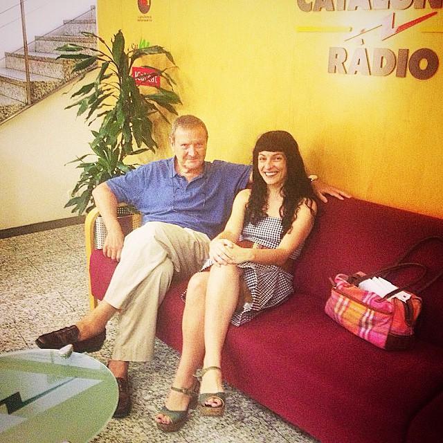 roser amills amb adolf tobeña saleta catalunya radio foto