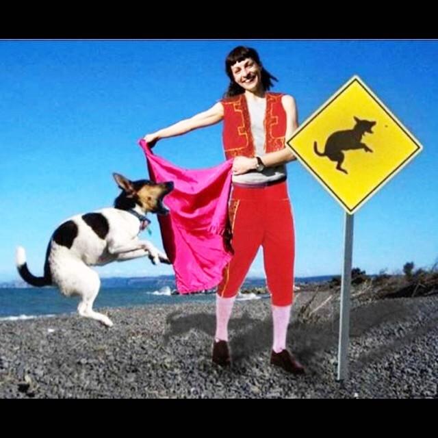 roser amills onirico torero perro salto