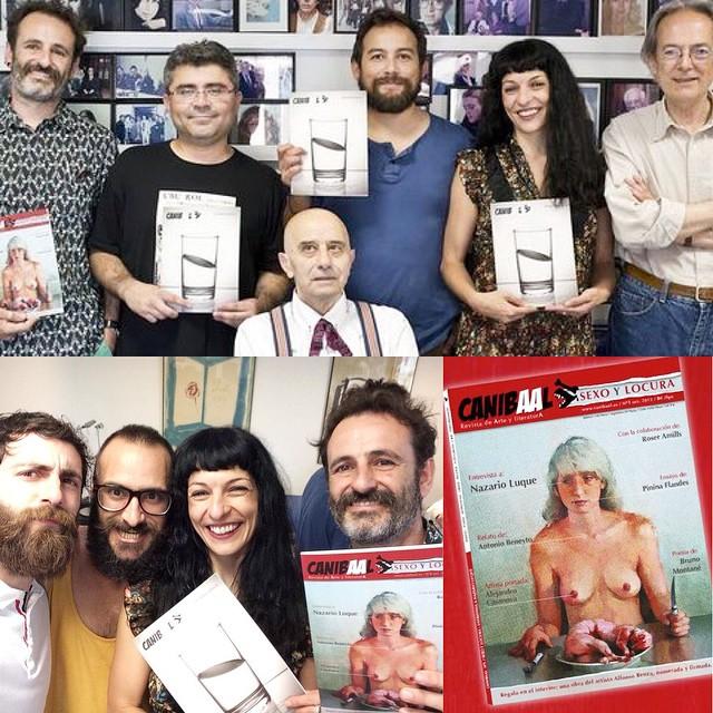 roser amills presentacion revista canibaal con antonio beneyto y equipo