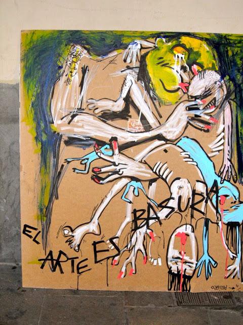 el arte es basura francisco de pajaro