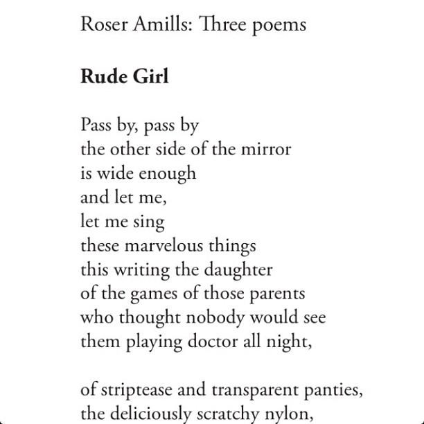 poema de roser amills traducido al ingles