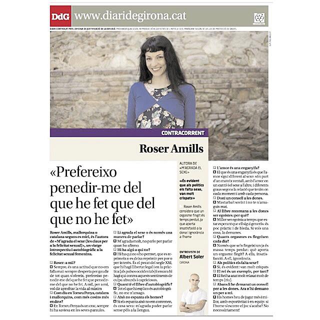 Entrevista a Roser Amills Diari de Girona