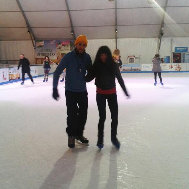 Avui he acomiadat l'any patinant sobre gel!! A RoserAmills.com hi trobaràs enllaç a l'audio :))
