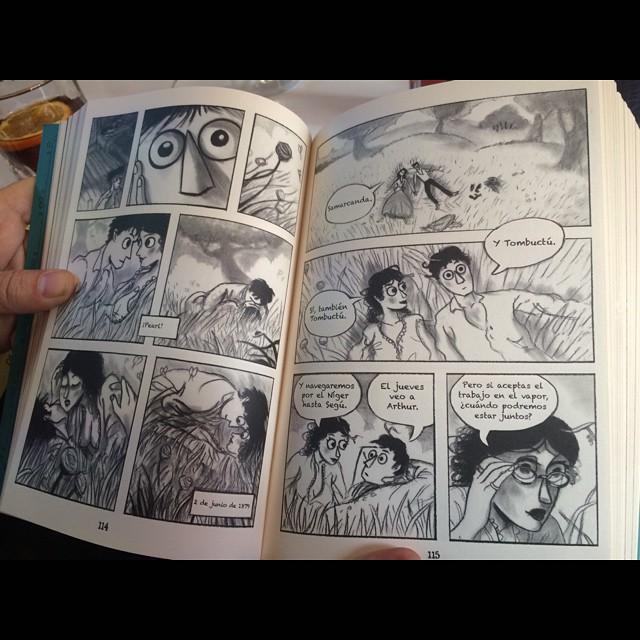 Qué queréis que os diga, a mí estos dibujos tan feos (y alabados) de Mark Siegel no me gustan #capitantwain #principaldeloslibros