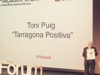 Meravellós Toni Puig que projecta la Tarragona positiva! #TEDxPDF