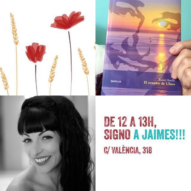 Fins a les 13h podeu venir a saludar-me a la llibreria Jaimes #elecuadordeulises ;))