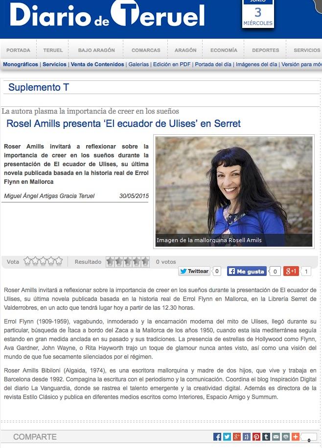 La autora plasma la importancia de creer en los sueños: Roser Amills presenta 'El ecuador de Ulises' en Serret