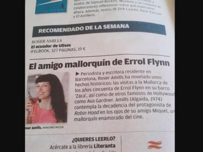 Feliz, #elecuadordeulises es el libro recomendado de la semana en @diariodemallorca :)) Lo has visto ya en tu librería?